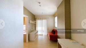For SaleCondoKasetsart, Ratchayothin : Selling at a lower price!! Centricscene Condo Ratchavipha, corner room next to the garden One wall of the room is not attached to any room. In front of the door does not collide with any room, size 40 sq m, 12th floor, build in room with wall paper, curta
