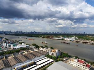 For SaleCondoRama3 (Riverside),Satupadit : Condo on the Chao Phraya River, Rama 3 area, Lumpini Place Narathiwat-Chao Phraya Condo, size 40 sq m., 1 bedroom, only 2.85 million baht.