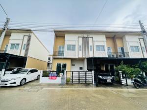 For SaleTownhouseBangbuathong, Sainoi : ‼️ Townhouse for sale, corner plot Grand Preno-Rattanathibet, MRT Bang Phlu, very cheap price!!️