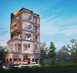 """For SaleHouseRatchadapisek, Huaikwang, Suttisan : Project """"Seacon Residence Luxury Edition"""", 6-storey detached house, high-end, Soi Soonvijai 2 Developed under the concept of Urban Villa, a luxury home in the heart of the city with high privacy."""