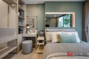 For RentCondoOnnut, Udomsuk : The Nest, Sukhumvit 71, fully furnished, ready to move in, only 850 m. from BTS Phra Khanong, one price, large swimming pool and a common area of more than 1 rai, ready to move in today