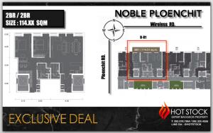 For SaleCondoWitthayu,Ploenchit  ,Langsuan : 🔥Hot Deal🔥 114 SQM Extra Size 🌟 Last Unit!!️🌟Noble Ploenchit (Noble Ploenchit) 🌟Private Life 🌟B Building 🌟High Floor 4X Best View
