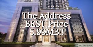 ขายคอนโดราชเทวี พญาไท : 🔥ลดกระหน่ำ ห้องสุดท้าย🔥 The Address Siam-Ratchathewi SPECIAL 5.99MB💥💥 📲Tel/Line: K.Bo 094-1624424