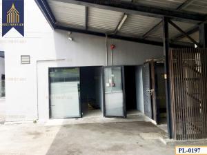 For SaleLandRama9, RCA, Petchaburi : Land reclamation with one-storey temporary office in Sukhumvit area, Klongton
