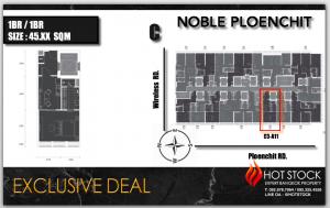 ขายคอนโดวิทยุ ชิดลม หลังสวน : 🔥Hot Deal🔥 45 sqm, Exclusive Size 🌟 Last 3 Unit ‼️🌟Noble Ploenchit (โนเบิล เพลินจิต) 🌟Private Life 🌟C Building 🌟High Floor 2X, 3X Best View