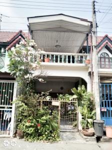 For SaleHouseNakhon Pathom, Phutthamonthon, Salaya : ขายบ้านทาวน์เฮ้าส์2ชั้น1.29ล้าน หมู่บ้านวังมณี พุทธมณฑลสาย5-16ตรว 2นอน 1น้ำ บ้านต่อเติมหน้าบ้านและครัวไว้เรียบร้อยแล้ว