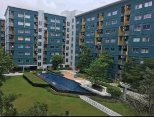 For RentCondoRangsit, Patumtani : ( ++ for rent ++ ) Plum Condo, size 2 bedrooms, phase 1, 4th floor, building c, pool view, cheapest