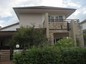 For RentHouseRangsit, Patumtani : Single house for rent, Rangsit, Thanyaburi, Khlong 5, Pornpiman Ville Village.
