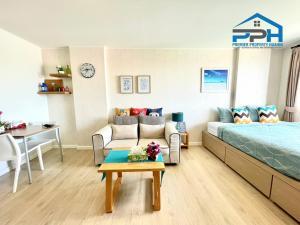 For SaleCondoHua Hin, Prachuap Khiri Khan, Pran Buri : Condo for sale at Baan Peang Ploen, sea view, beautiful room