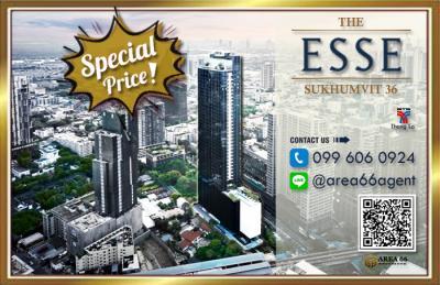 For SaleCondoSukhumvit, Asoke, Thonglor : For Sale The Esse Sukhumvit 36 Nearby BTS Thong Lo