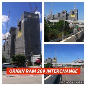 ขายดาวน์คอนโดมีนบุรี-ร่มเกล้า : ขายดาวน์ โครงการ THE ORIGIN RAM209 INTERCHANGE