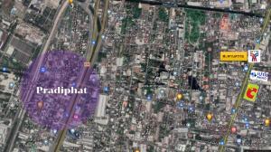 For SaleLandSapankwai,Jatujak : Land for sale on Pradipat Road, beautiful plot, 1 rai, suitable for building a house!
