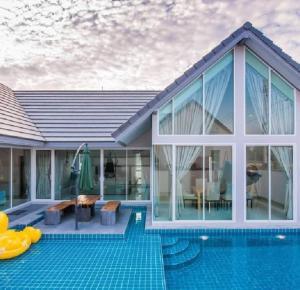 For SaleHouseCha-am Phetchaburi : SERENE NARA POOL VILLA Baan Pool Villa Cha-Am