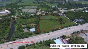 For SaleLandSuphan Buri : Sell/rent a very beautiful empty land, next to Malai Man Road, on Highway No. 321, area 6 rai 80 sq wa, width 80 meters, depth 110 meters, opposite Wat Chaimongkol, 321 road to the city side, Suphanburi.