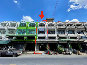 For SaleShophouseEakachai, Bang Bon : Selling a 3-storey commercial building, one and a half, 1 booth, next to the main road, Soi D.K. Village.