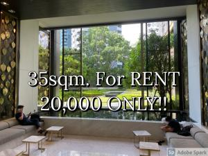 For RentCondoWitthayu,Ploenchit  ,Langsuan : **Be the first TENANT!!** Life One Wireless 35sqm. FOR RENT 20k ONLY!!! Tel/Line: 094-162-4424