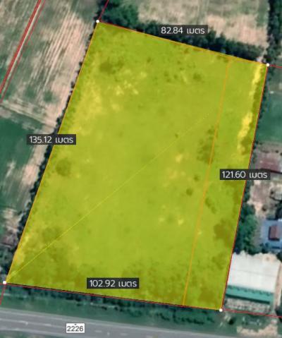For RentLandBuri Ram : Land for rent, Khu Mueang, Buriram Province, area 7 rai, next to the main road, width 100 meters, depth 120 meters.
