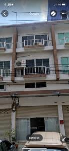 For RentShophouseRama 2, Bang Khun Thian : Commercial building for rent, 3 and a half floors, Yensuk Villa Village. Bang Khun Thian - Seaside