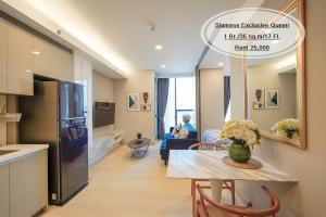 For RentCondoKhlongtoei, Kluaynamthai : Rent - Siamese Exclusive Queen / 1 bed 35 sq.m. / 17th floor, next to MRT Queen Sirikit Center, rent 25,000