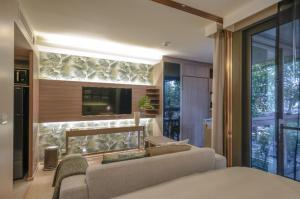 For RentCondoSukhumvit, Asoke, Thonglor : Condo for rent Urbitia BA21_07_104_02 beautiful room, furniture, electrical appliances. Ready to move in, price 19,999 baht