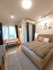 For RentCondoRatchadapisek, Huaikwang, Suttisan : Condo for rent Chapter One Eco HUai Khwang BA21_07_105_02 beautiful room, furniture, complete electrical appliances. Ready to move in, price 19,999 baht