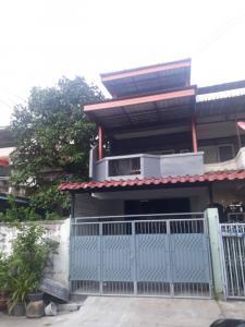For RentTownhouseThaphra, Wutthakat : BIG Townhouse for rent, 4 bedrooms, 2 bathrooms, opposite PTT gas station Plenty of foodshop, 7/11, Big C, and a flea market, make office at home, WFH.