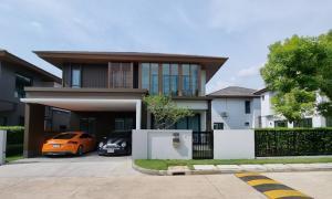 For RentHousePattanakan, Srinakarin : For rent, Baan Burasiri Phatthanakan, beautiful decoration, 4 bedrooms, 5 bathrooms, fully furnished.