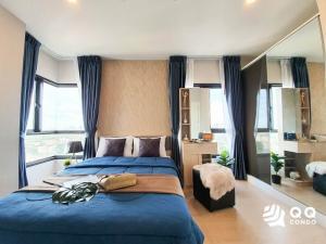 For RentCondoSukhumvit, Asoke, Thonglor : 🌈💙💘For rent The Tree Sukhumvit 71-Ekamai  2Bed, size 57 sq.m., Beautiful room, fully furnished.🌈💙💘