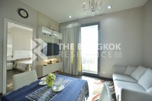 For RentCondoRama9, RCA, Petchaburi : 🌟<RENT> Q Asoke 🌟 1B1B 38 SQM., luxurious minimal decoration, 1 step to MRT Phetchaburi @ 17,000 THB