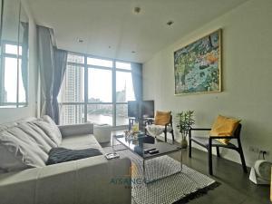 For RentCondoWongwianyai, Charoennakor : แนะนำ ให้เช่า คอนโด เดอะ ริเวอร์ 1 ห้องนอนชั้นสูง วิวแม่น้ำ