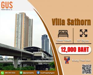For RentCondoWongwianyai, Charoennakor : Hot Price!!!! For Rent at**Villa Sathorn**Fully Furnished Studio 41 Sq.m @ 10,000 THB/BAHT