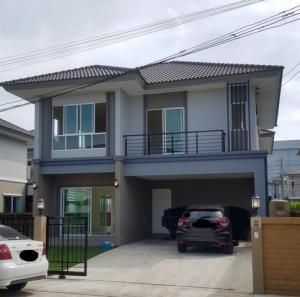 For RentHouseRangsit, Patumtani : Code C4300, 2 storey detached house for rent, Passorn 26 Village, next to the main road, Bang Khuwat, Pathum Thani.