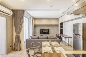 For RentCondoRatchathewi,Phayathai : 🔥 Pathumwan Resort 🔥  New renovated , Nicely decorated ,high floor , Close to BTS //Ask more info@Rabbitcondo