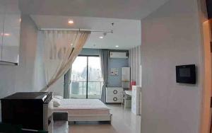 เช่าคอนโดพระราม 9 เพชรบุรีตัดใหม่ : Supalai Premiere @ Asoke ให้เช่าห้องสตูดิโอ 34 ตร.ม. ชั้น 27 ราคาเช่า14,000 บาท/เดือนทิศใต้ เฟอร์ครบพร้อมอยู่ใกล้ MRT Phetchaburi