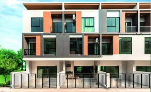 For SaleTownhouseRamkhamhaeng,Min Buri, Romklao : For Sale ขายโฮมอ็อฟฟิศใหม่ ทรีโอ ร่มเกล้า Trio Romklao โฮมออฟฟิศ 3 ชั้นครึ่ง แบบ TRIPLUS