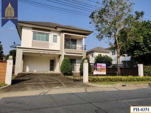 For SaleHouseRathburana, Suksawat : Single house, The Grand Wongwaen-Pracha Uthit, Thung Khru, parking for many cars.
