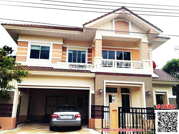 For RentHouseRamkhamhaeng,Min Buri, Romklao : 2 storey detached house for rent, Perfect Place Village, Ramkhamhaeng 164, fully furnished, ready to move in