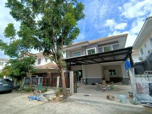 For SaleHouseNawamin, Ramindra : 2 storey detached house, Lanseo Village Liap Khlong Song Road, new renovation, completed at the end of July. near safari world