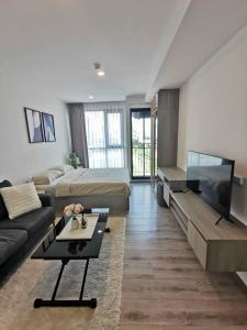 For RentCondoBangna, Lasalle, Bearing : @condorental for rent KNIGHTSBRIDGE COLLAGE SUKHUMVIT107, beautiful room, good price, ready to move in!!