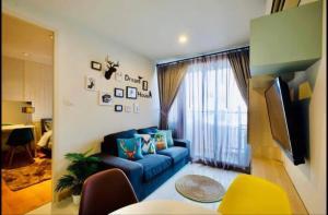 เช่าคอนโดอ่อนนุช อุดมสุข : The President Sukhumvit ให้เช่า 1 ห้องนอน 35 ตร.ม. ชั้น 8 เช่า 12,000 บาท/เดือนเฟอร์ครบพร้อมอยู่ใกล้ BTS อ่อนนุช เดินทางสะดวก