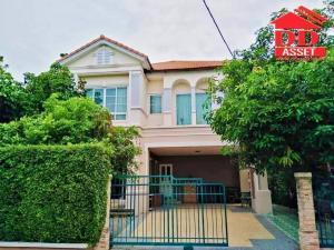 For RentHouseNakhon Pathom, Phutthamonthon, Salaya : For rent, Image Place Village, Phutthamonthon Sai 4, 2 storey detached house, behind the corner.