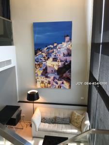 For RentCondoOnnut, Udomsuk : RHYTHM Sukhumvit 44/1 (1 Bed Deuplex) For Sale-Rent Bang Krachao view, very beautiful.