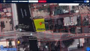 For SaleLandRatchadapisek, Huaikwang, Suttisan : ขายที่ดินใน ซอยลาดพร้าววังหิน 63 เหมาะสร้างบ้านมาก ที่ดินติดคลอง