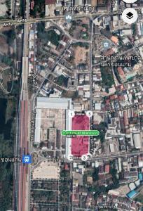 For SaleLandKhon Kaen : Land for sale, beautiful location in front of Khon Kaen Railway Station.