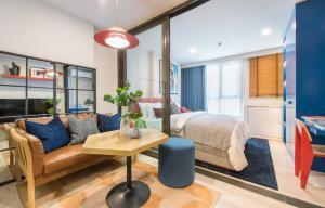 For SaleCondoRatchadapisek, Huaikwang, Suttisan : 📢Special price!! Near MRT 75 m.📢 XT Huai Khwang 1 Bed 28 sq.m. 3.69 million! Free furniture + electrical appliances ☎️ contact 063-625-5647