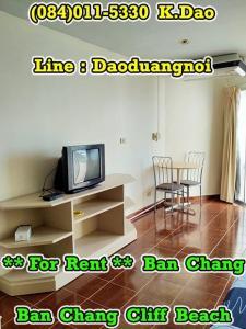 เช่าคอนโดระยอง : Ban Chang Cliff Beach Condo for Rent Ban Chang Fully Furnished Sea View