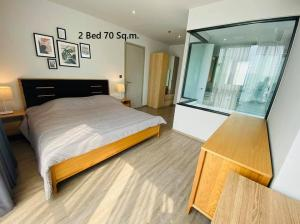 เช่าคอนโดสุขุมวิท อโศก ทองหล่อ : B035 Rhythm Ekkamai for rent. 2 bed 70 sqm.