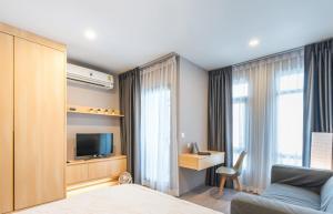 For RentCondoRatchadapisek, Huaikwang, Suttisan : Aspire Asoke - Ratchada, studio room, very beautiful, discounted during covids!! 🔥 For Rent 🔥
