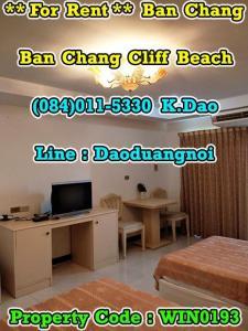 For RentCondoRayong : Ban Chang Cliff Beach Mountain View Condo for Rent Ban Chan Mountain View