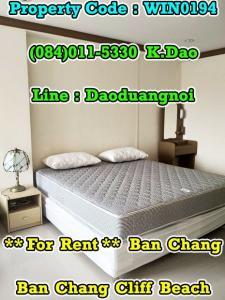 เช่าคอนโดระยอง : Ban Chang Cliff Beach Condo for Rent Ban Chang Sea View 5,000 Baht